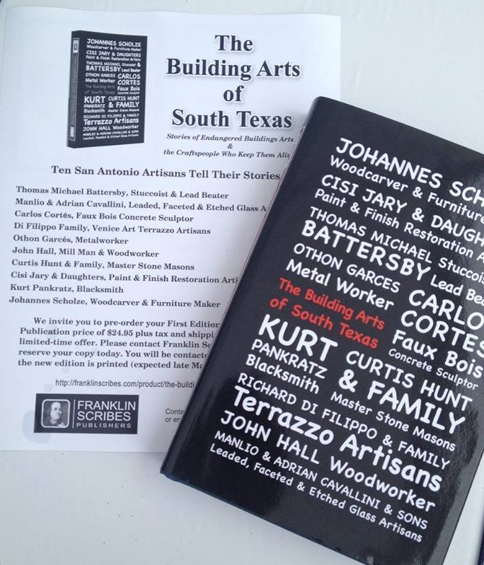 "We are excited to announce that after 10 years in the making the ""Building Arts of South Texas"" book is available. We are incredibly honored and very humbled to have been thought of and included..."