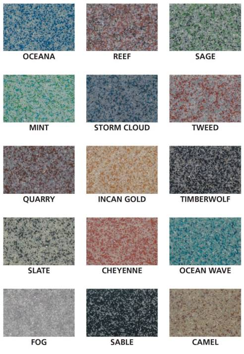 Epoxy Quartz Color Chart
