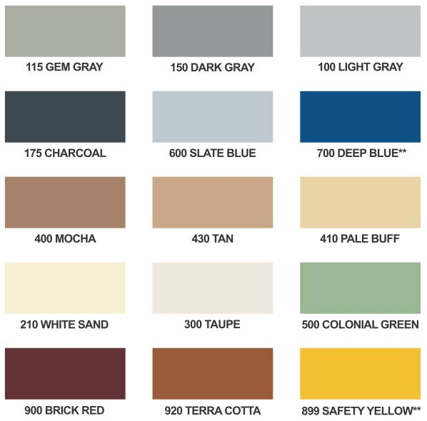 Epoxy Solid Color System Chart